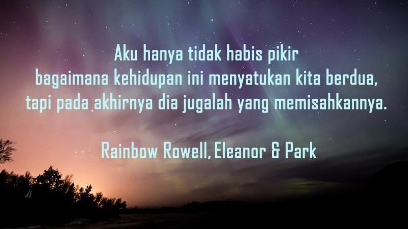 Gambar Kata-Kata Galau Sedih - Rainbow Rowell