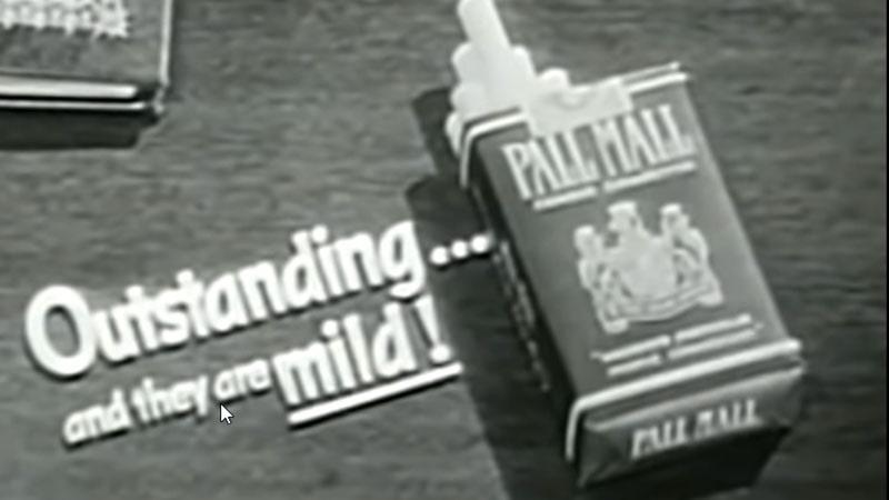 rokok pall mall -iklan 1955