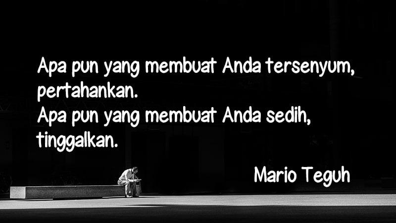 Kata-Kata Sedih Tentang Cinta - Mario Teguh
